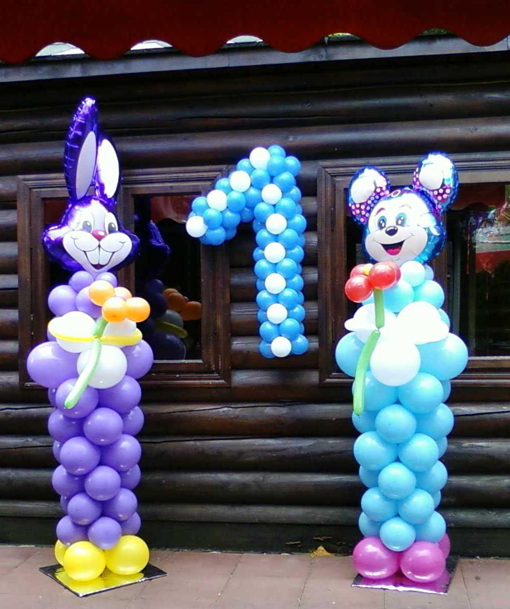 Фигуры из шаров на 1 год